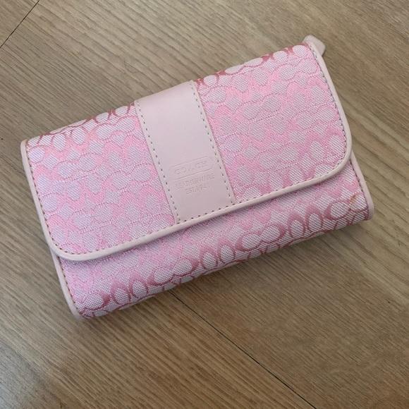 Coach Handbags - Light Pink Coach Small Wallet